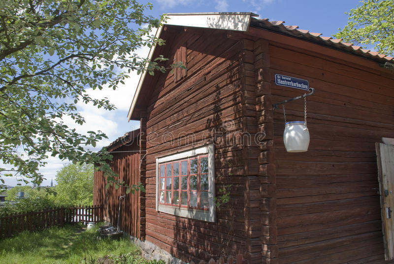 房子斯堪的纳维亚人 库存图片