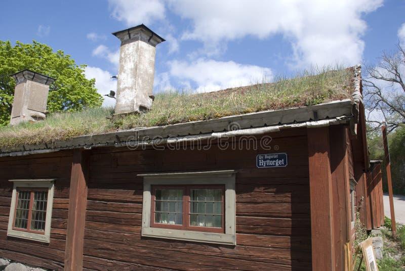 房子斯堪的纳维亚人 免版税库存图片