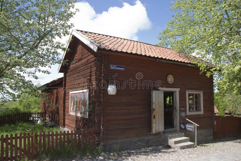 房子斯堪的纳维亚人 库存照片