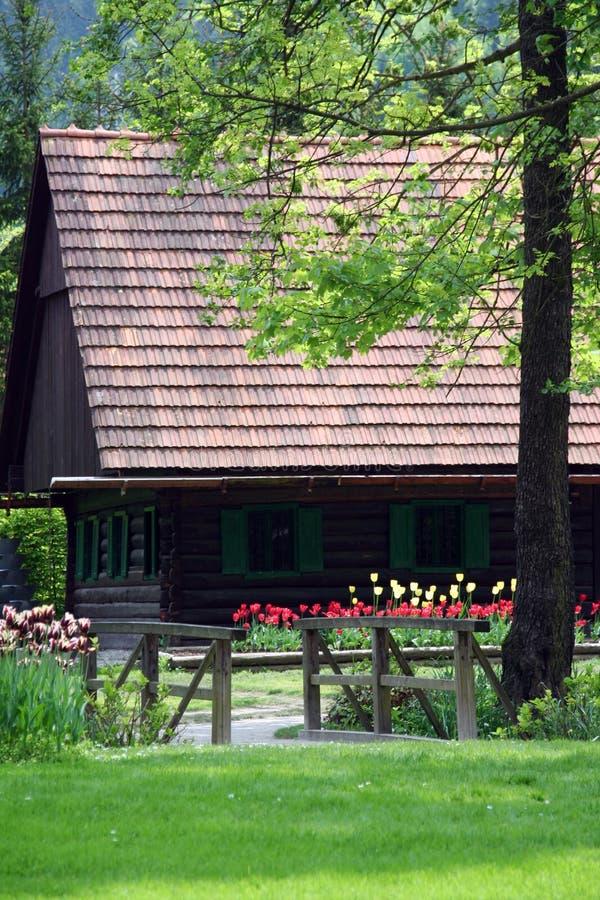房子本质木头 库存照片