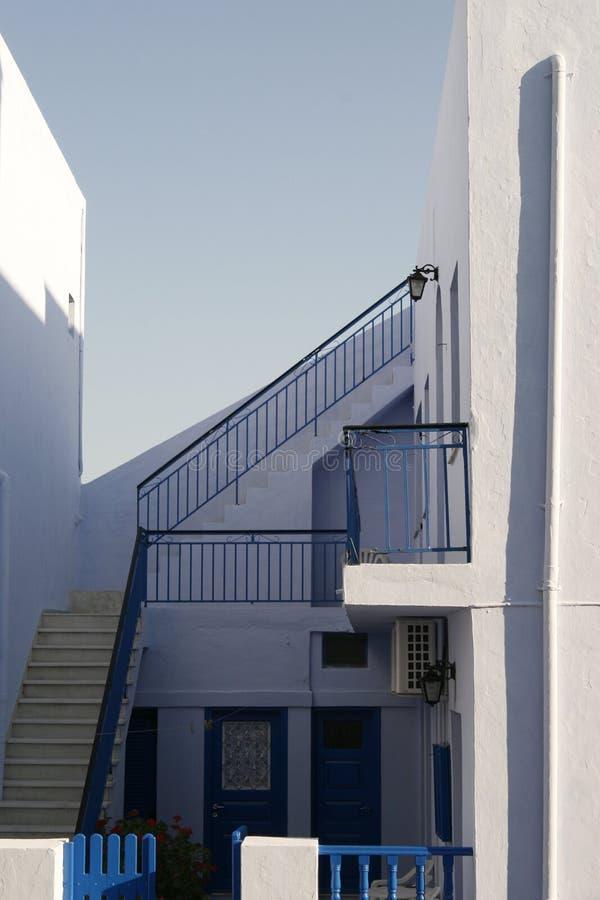 房子海岛专用santorini 免版税图库摄影