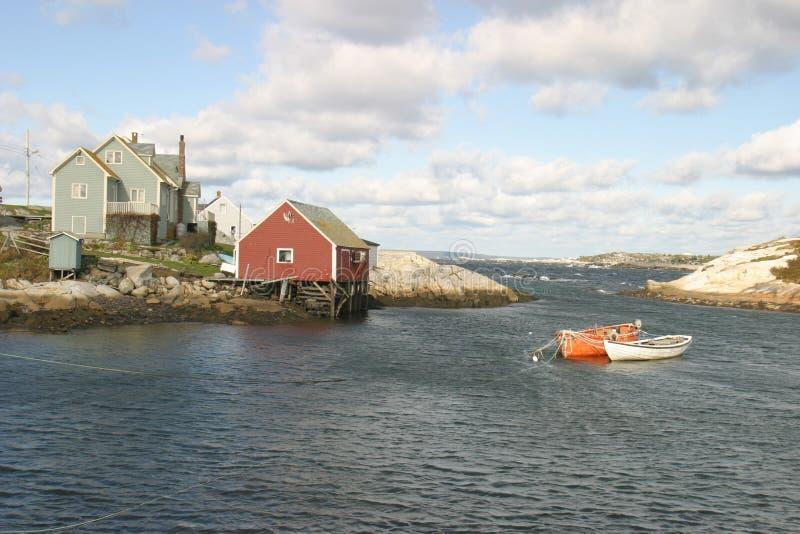 房子海洋 免版税库存图片