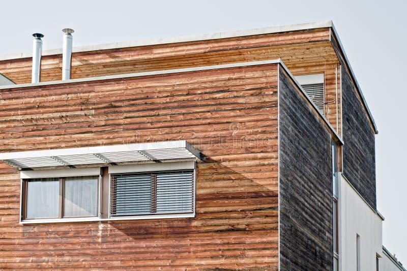 房子现代木 图库摄影