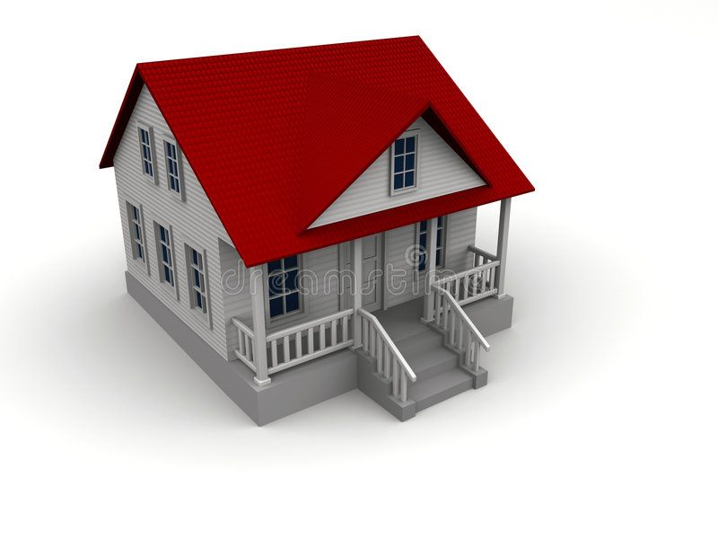 房子白色 库存例证