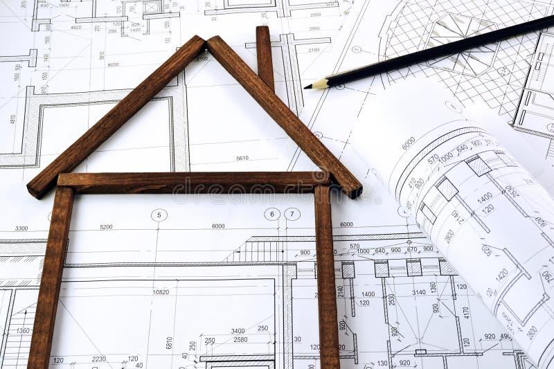 房子的图象形式 免版税库存图片