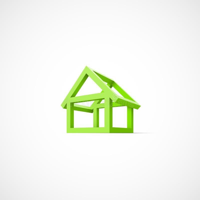 房子的抽象建筑 向量例证