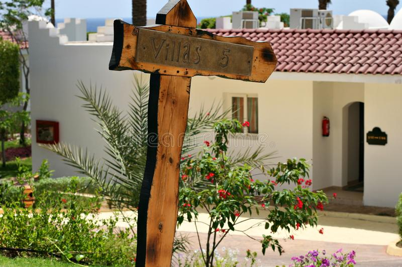 房子的索引由海 免版税图库摄影