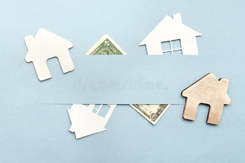 房子的购买或销售,公寓 免版税库存照片