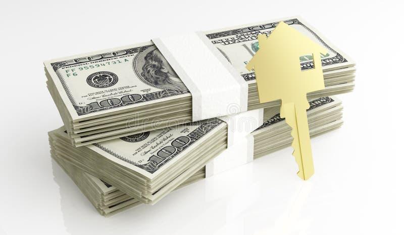 房子的金钱 库存例证