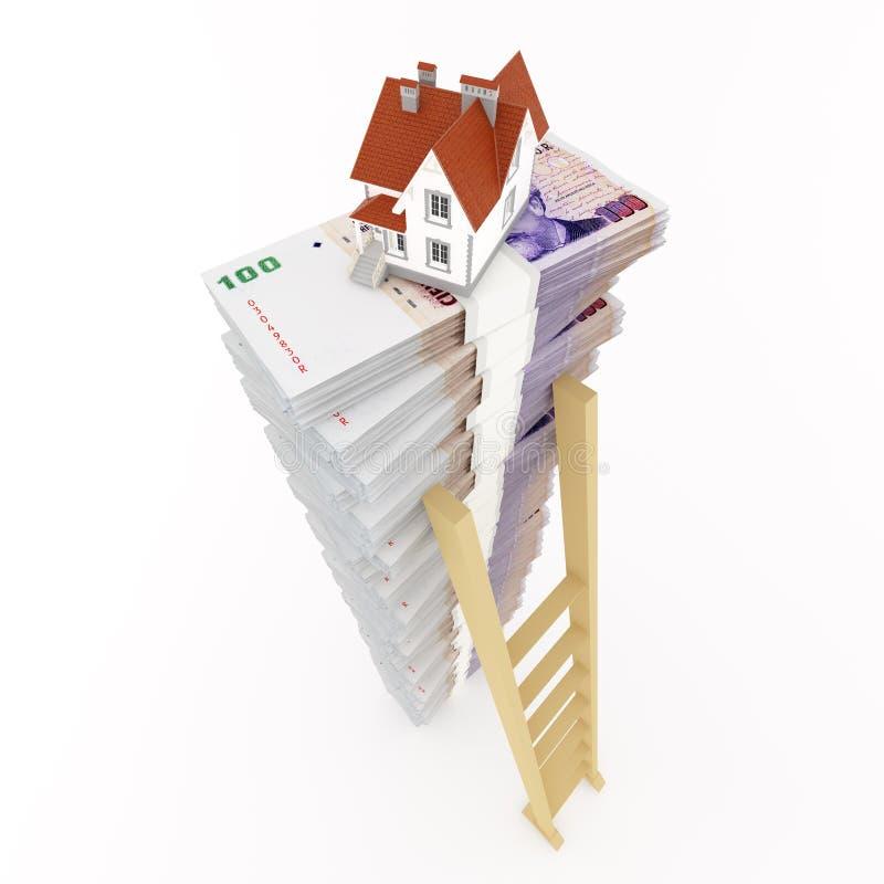 房子的货币 库存例证
