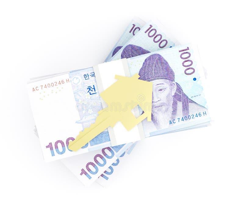 房子的货币 向量例证