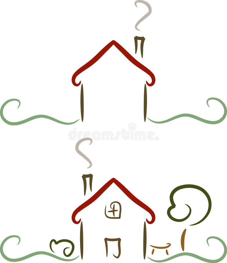 房子简单例证的徽标 库存例证