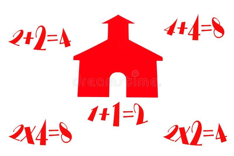 房子算术学校 库存图片