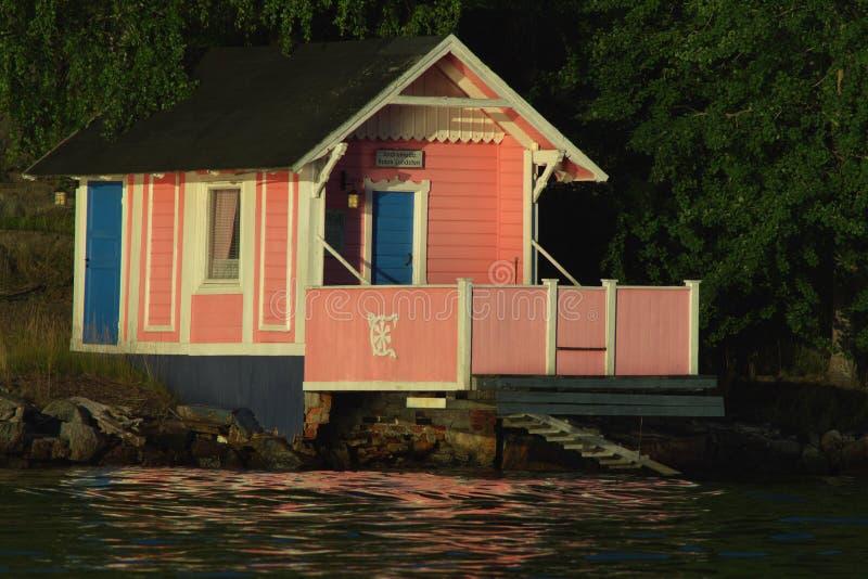 房子粉红色 免版税库存照片