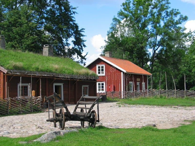 房子红色的一点 免版税库存照片