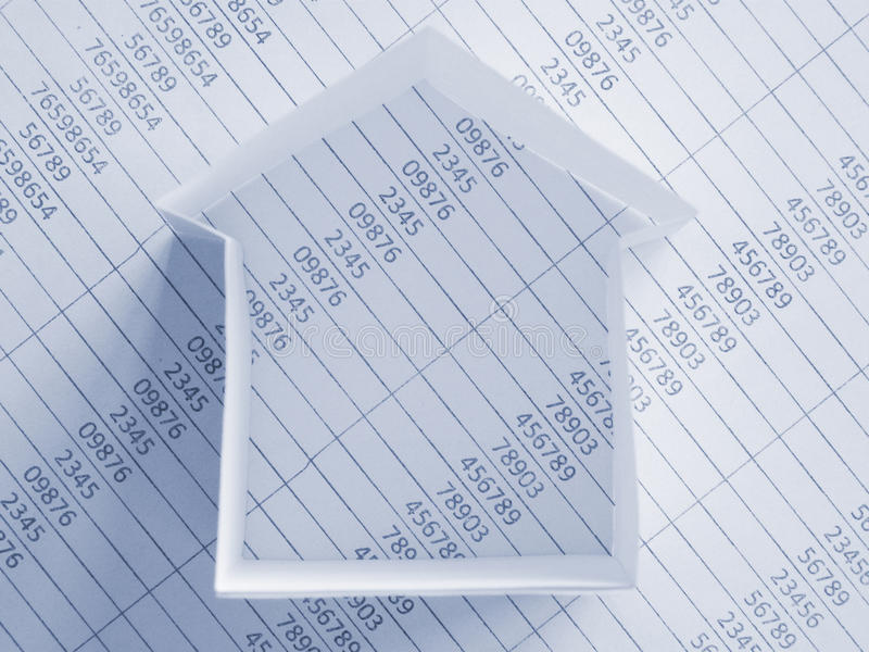 房子纸张 免版税库存照片