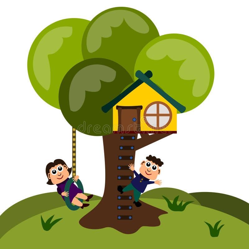 房子结构树 皇族释放例证