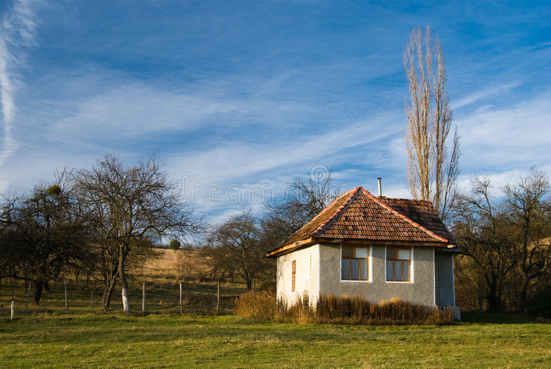 房子罗马尼亚农村 库存照片