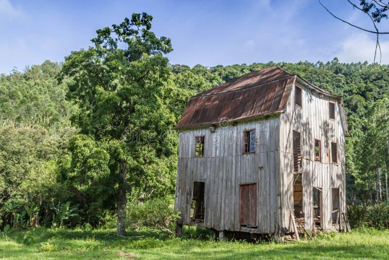 房子老木头 免版税库存图片