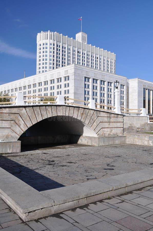 房子莫斯科白色 免版税库存图片