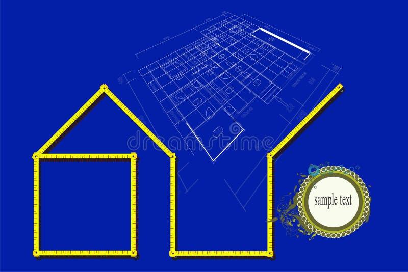 房子计划 库存例证