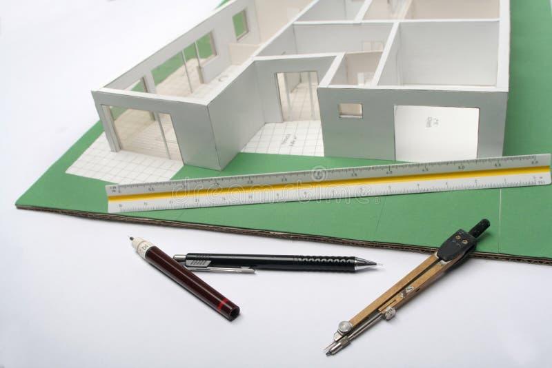 房子设计缩放比例 免版税图库摄影
