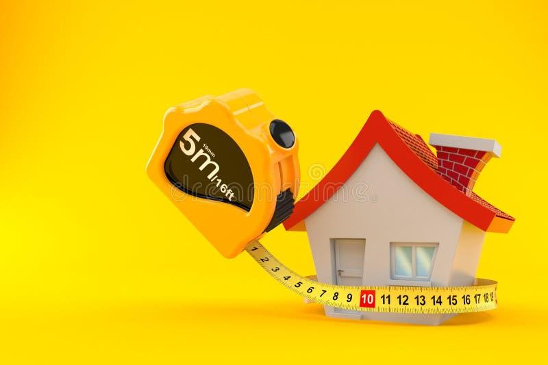 房子评定的磁带 库存例证