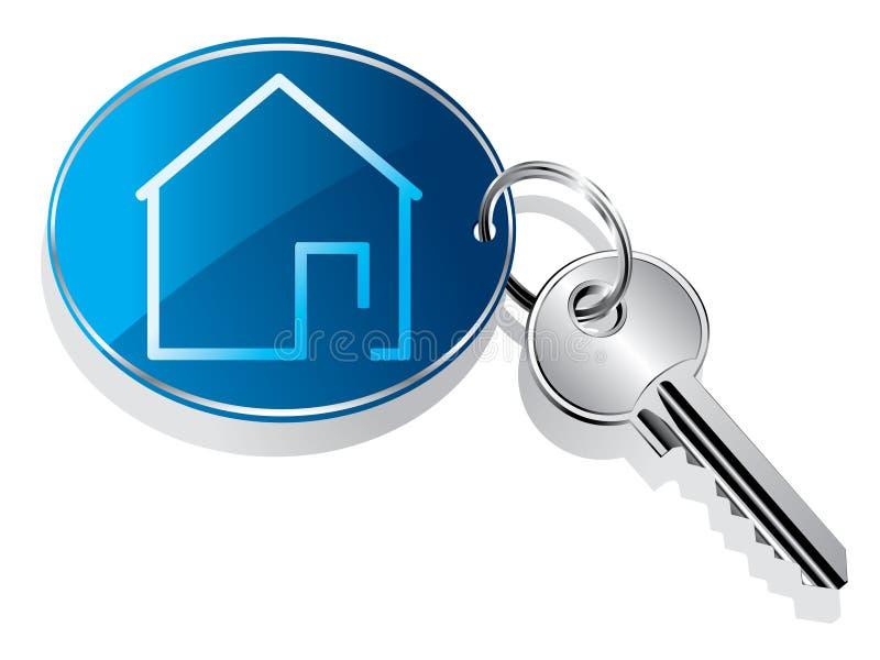 房子钥匙圈 库存例证