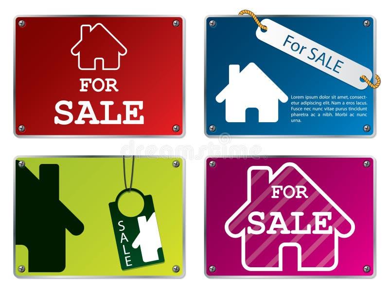 房子销售额片剂 向量例证