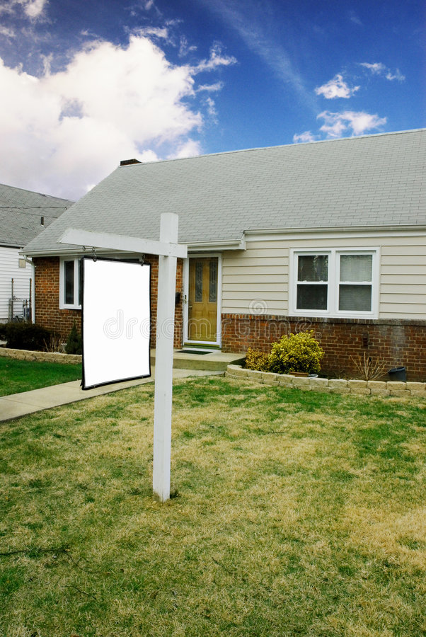 房子销售额 库存照片