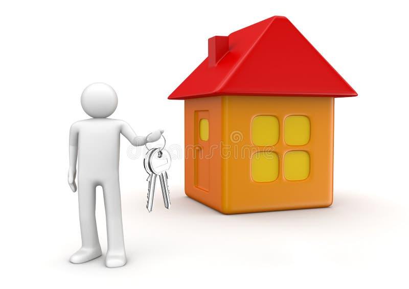 房子锁上新 向量例证