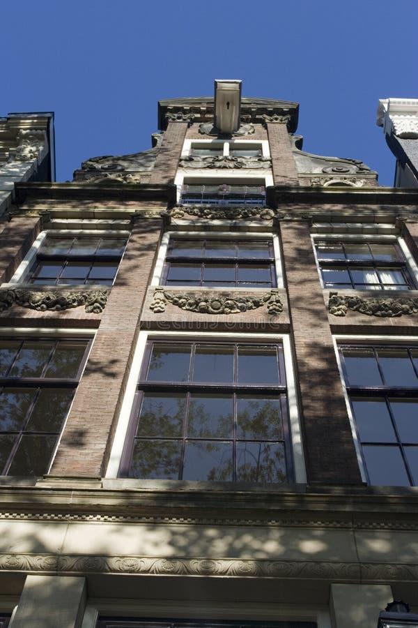 房子阿姆斯特丹荷兰, Grachtendpand阿姆斯特丹的前面 免版税库存图片