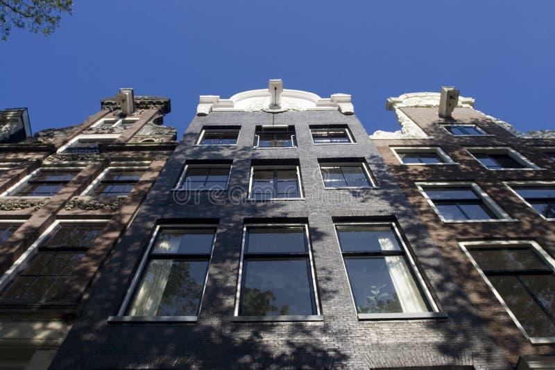 房子阿姆斯特丹荷兰, Grachtendpand阿姆斯特丹的前面 库存图片