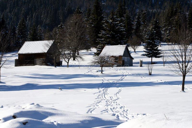 房子雪 免版税库存图片