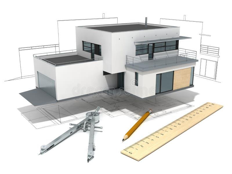 房子项目 库存例证