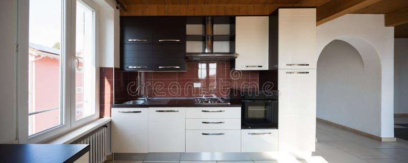房子,厨房内部  库存照片