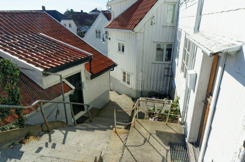 房子,挪威台阶  免版税库存图片