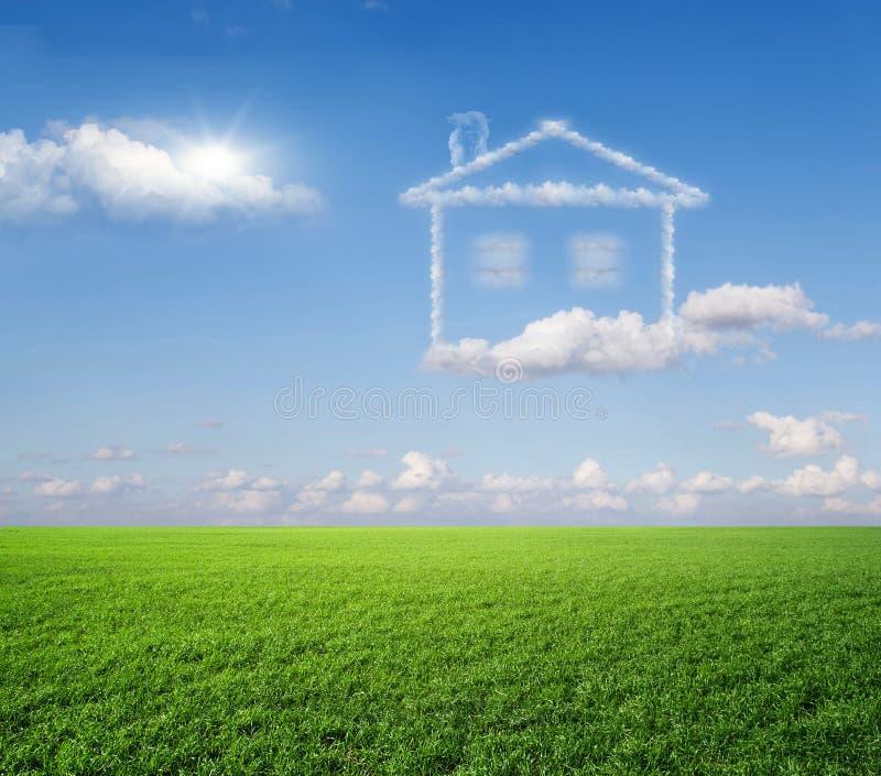 房子,梦想。 库存图片