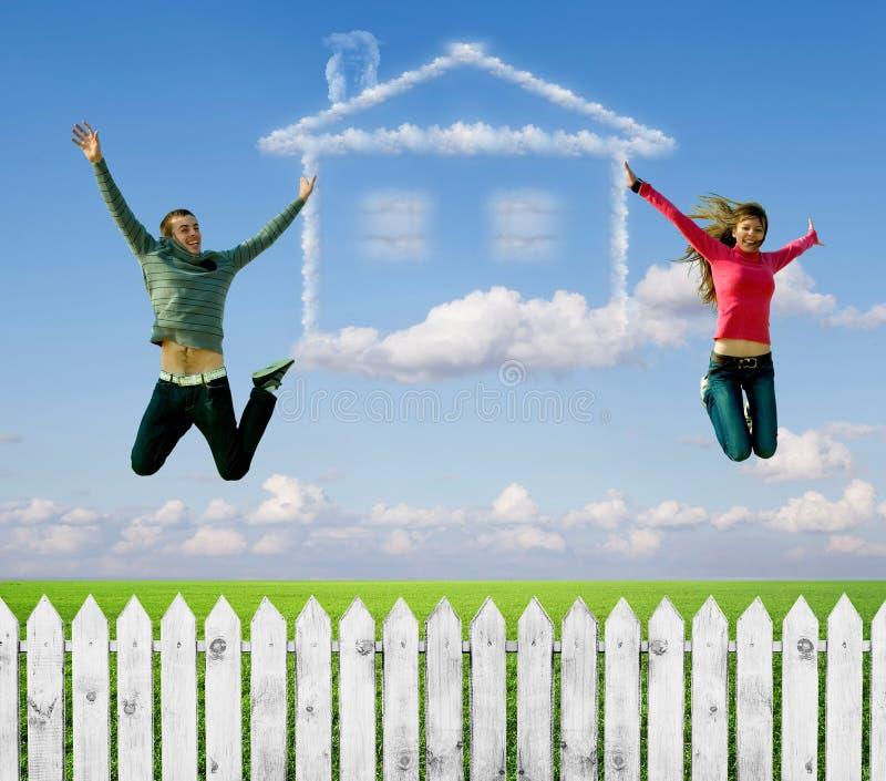 房子,梦想。 免版税图库摄影
