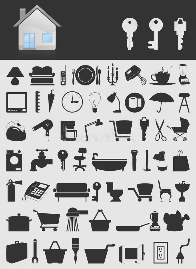 房子icons2 皇族释放例证