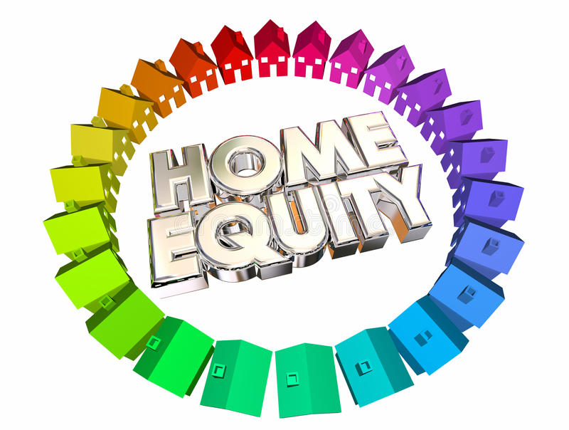 房屋净值抵押价值财产平衡 库存例证