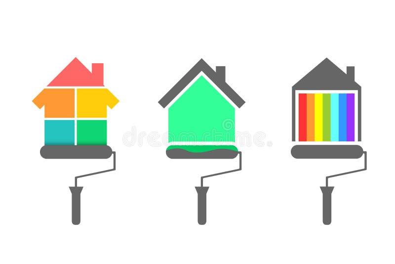 房屋油漆工概念 库存例证