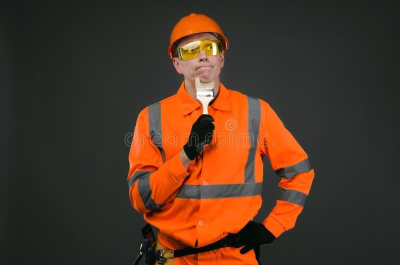 房屋油漆工 免版税库存图片