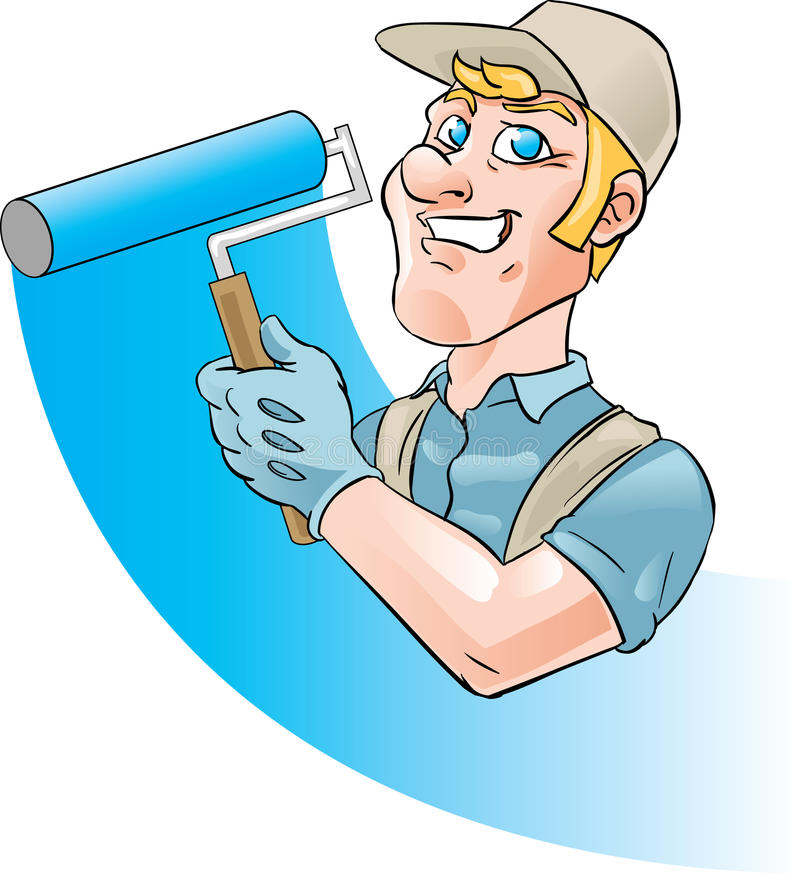 房屋油漆工 库存例证