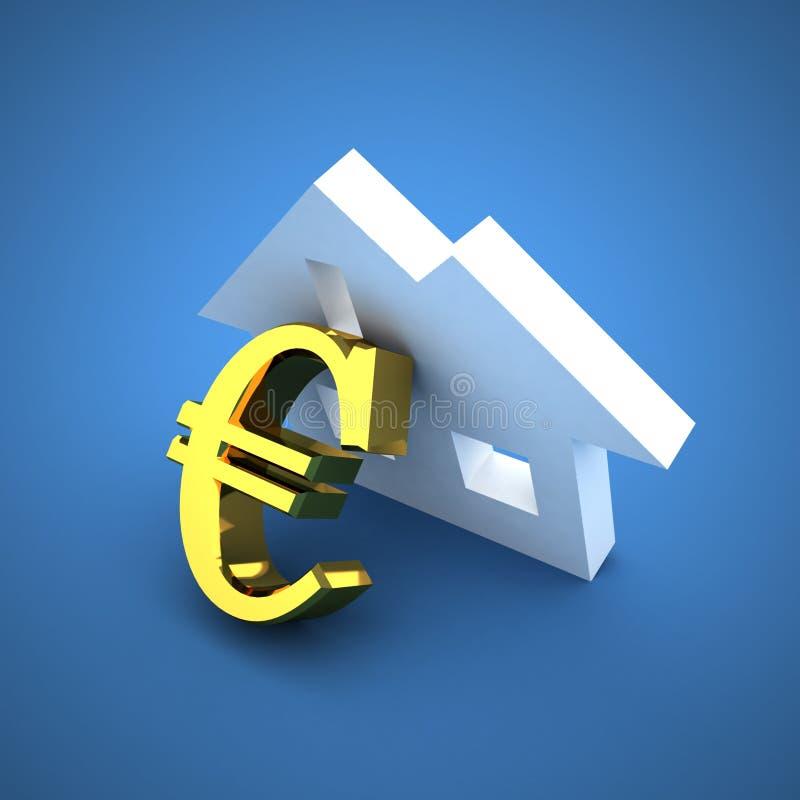 房屋贷款 皇族释放例证