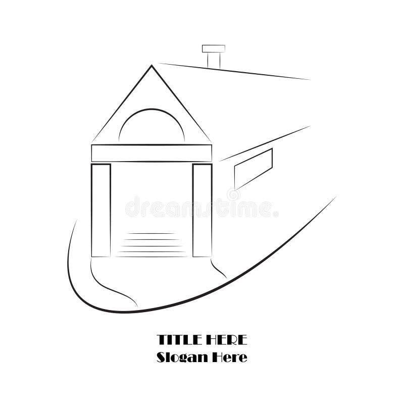 房屋建设商标传染媒介 皇族释放例证