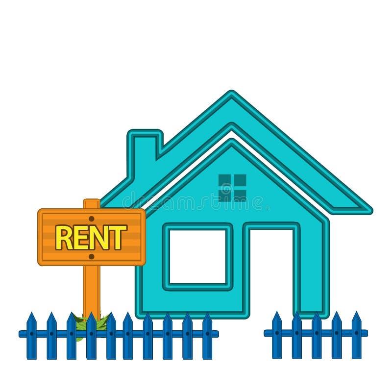 房租 平的设计 在背景的传染媒介例证 库存例证