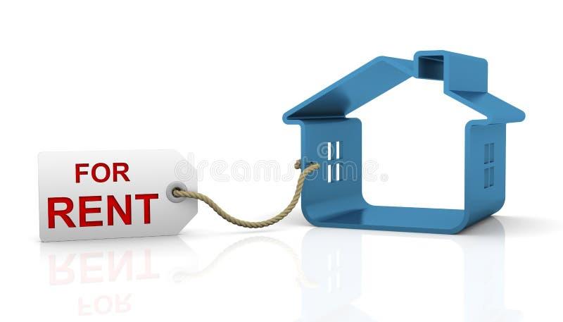 房租 向量例证