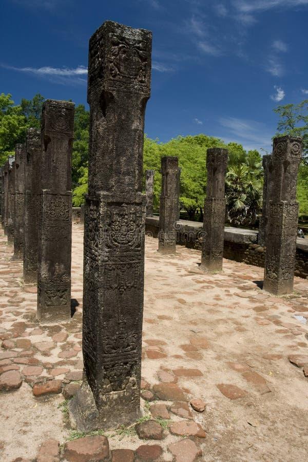 房间理事会国王lanka polonnaruwa s sri 免版税库存照片