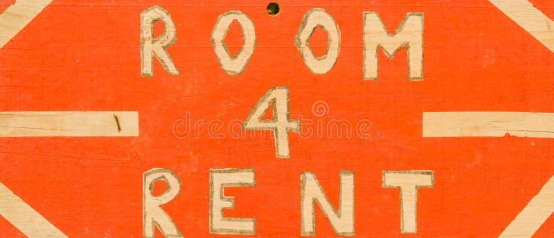 房间4租手画标志 免版税库存图片